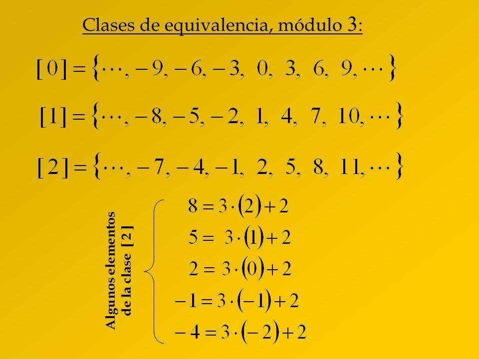 Algunos elementos de la clase [ 2 ]